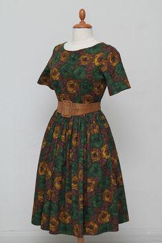 Blomstret kjole 1950. M