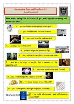 Second Conditional: How things would be different if...?