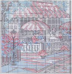 Схема вышивки Кафе у моря (Dimensions) 4 из 6