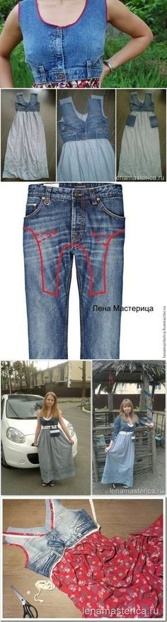 Most current Photos Sewing clothes . # dresses # sewing - dresses Popular I love Jeans ! And much more I want to sew my own Jeans. Next Jeans Sew Along I'm planning to sh Patchwork Jeans, Diy Clothing, Sewing Clothes, Men Clothes, Sewing Jeans, Recycled Clothing, Sewing Diy, Dress Sewing, Diy Dress