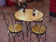 ice cream parlor chairs. Just need to find the table.
