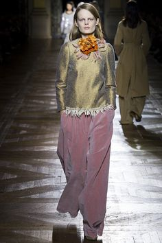 dries-van-noten-rtw-fw15-runway-44 – Vogue  Lose the floral arrangement around the neck and these garments all instantly improve by quite a lot.--BA
