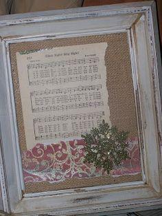 framed christmas hymns
