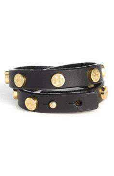 LOVE bracelets. Tory Burch double wrap logo bracelet. Valentine's day maybe?