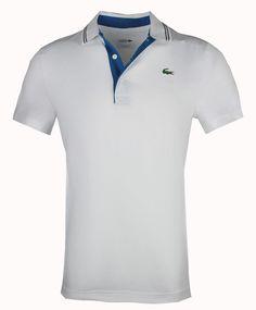 067706a207 Lacoste DH3360 mens polo sport lettering golf tech jersey s m l xl 2xl White