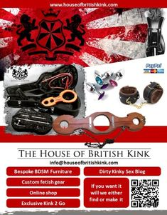 House of British Kink, suppliers of luxury fetish and bdsm lifestyle  equipment. - Home