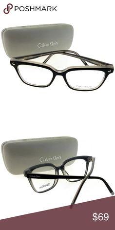 b3ae4619281 CK5963-007-52 Women s Black Frame Eyeglasses NWT New gorgeous authentic  Calvin Klein CK5963