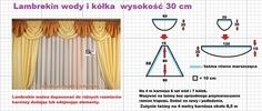 Użyj STRZAŁEK na KLAWIATURZE do przełączania zdjeć Curtain Patterns, Sewing Hacks, Sewing Tips, Pattern Fashion, Window Treatments, Windows, Curtains, Handmade, Crafts