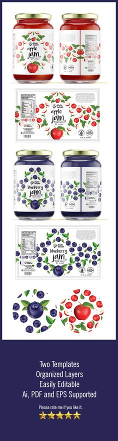 Jelly & Jam Label Templates
