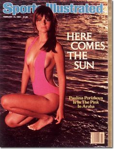 18 year old Paulina Porizkova on the 1984 cover of 'Sports Illustrated'. She was the first model from Central Europe to land a SI cover. This cover launched her supermodel career.