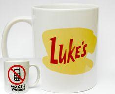 Gilmore Girls gift ideas: Luke's diner coffee mug, she drinks more coffee than a Gilmore mug, Luke's diner sweatshirt, In Omnia Paratus. Luke's Diner Mug, Gilmore Girls Gifts, Emperors New Groove, White Coffee Mugs, Funny Vines, High School Musical, Girl Gifts, Etsy, Geek News