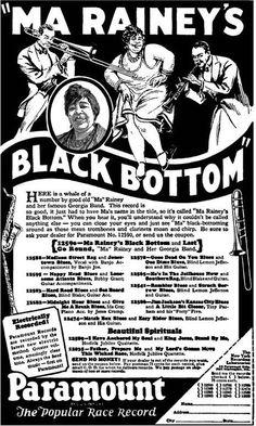 Paramount records ad - Ma Rainey's Black Bottom