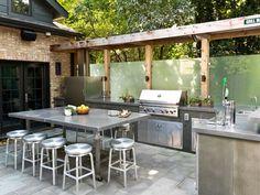 Cocinas modernas al aire libre perfectas para tu jardín, elige la que mejor se adapte al entorno que tengas en tu hogar   Mundo Fachadas