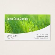 210 best lawn care business cards images on pinterest lawn care lawn care modern spring green business card freerunsca Images