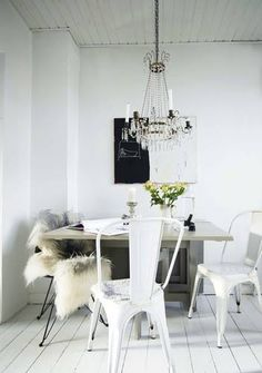 Get the look with our chairs: http://www.mattblatt.com.au/Replica-Dining-Chairs/Replica-Xavier-Pauchard-Tolix-Chair-Powder-Coated-.aspx?p3996c2#5588   - Via: SA Decor & Design