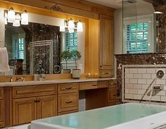 "72"" bathroom vanities with makeup area   Bathrooms: 2 Sinks, or not 2 Sinks? That is the Question."