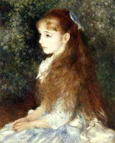 Irène Cahen d'Anvers  (Little Irene)  1879  Pierre Auguste Renoir - My grandma had this painting.