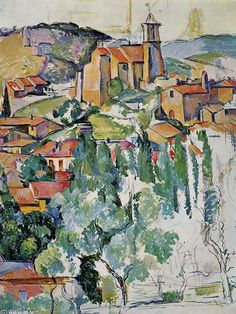 """""""The Village of Gardanne"""" by Paul Cezanne. Epitome of Provence (South of France)  mood & colour for me"""