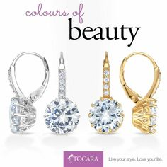 Tocara, Inc. - Live your style. Love your life. Ufo, Bling, Love Your Life, Live For Yourself, Silver Earrings, Your Style, Personalized Items, Gold, Jewelry