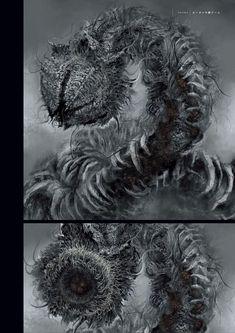 다크 소울 3 등장 몹 컨셉 아트 (스압) | 콘솔 정보 게시판 | 루리웹 모바일 Monster Concept Art, Game Concept Art, Fantasy Monster, Monster Art, Fantasy Concept Art, Dark Fantasy Art, Dark Art, Dark Creatures, Fantasy Creatures