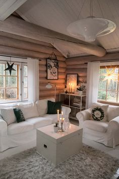 Cabin Interiors, Log Homes, Tiny House, Villa, Cottage, Furniture, Home Decor, Decorating, Houses