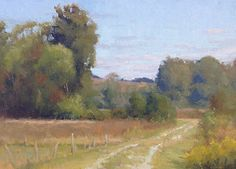 Licking County Lane by Chuck Marshall Oil ~ 12 x 16