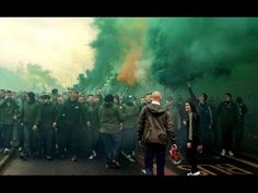 What the build up to the recent old firm (Celtic vs Rangers match) looked like Glasgow Green, Ultras Football, Old Firm, Celtic Green, Celtic Fc, Best Fan, Ranger, Battle, Labuan