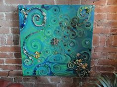 MERMAID ART assemblage Original painting by MariasIdeasArt on Etsy