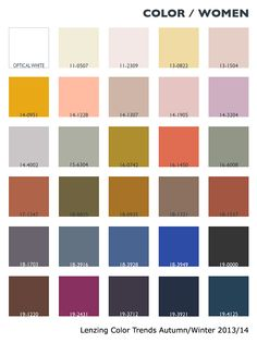 Lenzing Color Trends Autumn/Winter 2013/14 | Color Usage - Womenswear | Fashion Trendsetter