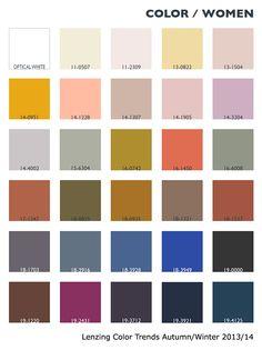 Lenzing Color Trends Autumn/Winter 2013/14
