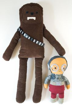 Star Wars Inspired Homemade Dolls | This free sewing tutorial is perfect for tiny Star Wars fans! May the force be with you!