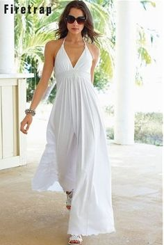 Long White Linen Dress / Maxi / High Waistline / Summer Dress / Pure ...