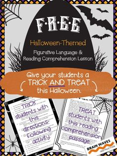 FREE!  Looking for a fun and educational way to celebrate Halloween in your classroom? Then, you'll love the activities in this resource that give your students a trick AND treat.