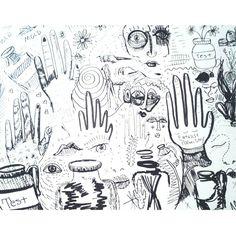 #art #sketch #drawing #illustration #patterns #summer #outsiderart #sketches #ink #scribble #artbrut