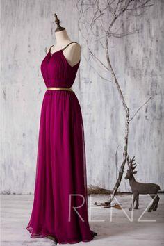 2015 Long Bridesmaid dress Red Wine Wedding dress by RenzRags