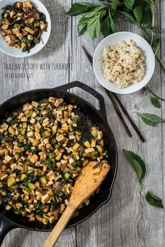 Thai tofu basil with zucchini | Eat Good 4 Life