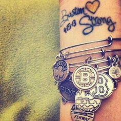 #bostonstrong #charmedarms #love