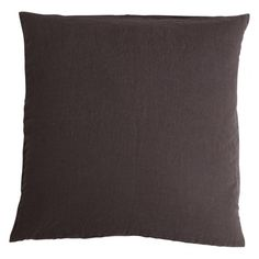 Stone washed linen cushion - Clay