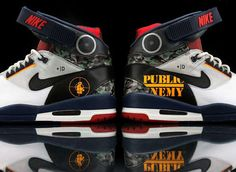 These Nike Air Revolution Shoes Come with a Public Enemy Customization #celeb #fashion trendhunter.com