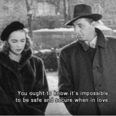 """True!  Well said Mr. Mitchum! ""Holiday Affair"" - Janet Leigh and Robert Mitchum"