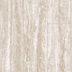 Travertine Plank 12 ft. Wide x Your Choice Length Vinyl Sheet, Travertine Marble Plank In A Low Gloss Finish