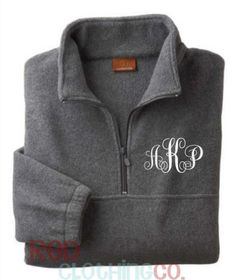 Monogrammed Quarter Zip Pullover, Monogrammed Pullover Jacket, Monogrammed Quarter Zip Jacket, Monogrammed Quarter Zip Jacket, Fleece | @giftryapp
