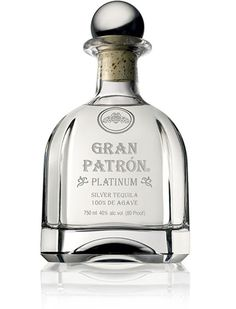Platinum Patron...mmmmm! Trying to figure out what to do with this bottle!!! It is waaaay to beautiful...need a GRAND SCHEME!