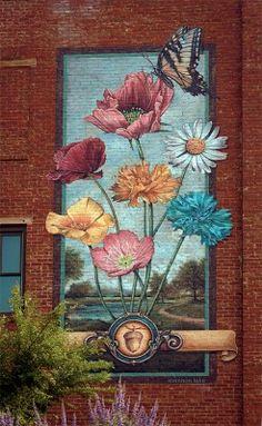 Mural art. Beautiful inspiration.                                                                                                                                                                                 More