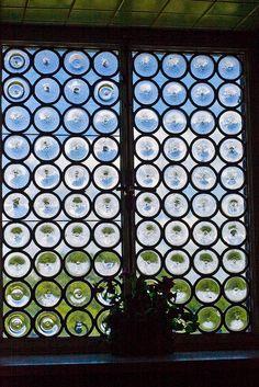 Bottle Bottom Glass Window