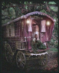 Caravan plinking, clinking, aglow ~ Carry me to freedom protected in your velvet softness.