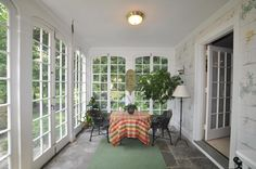 Glassed in Porch with French doors that can be opened!