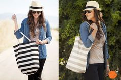 Add this trendy cotton bag to any outfit! Perfect for your trips to the grocery store, library or just a girls' night out. Available in two colors for 60% off at pickyourplum.com