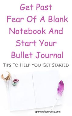 You bought a bullet journal but haven't been able to start it? You have so much fear that you you will mess it up somehow. Let's get you over that fear so you can benefit from this awesome method of planning and journaling. #bulletjournal #bujo via @marlena_larson