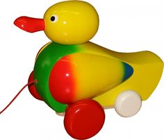 Quacking Colourful Pull Along Toy Duck - Hand crafted with love and attention to detail this brightly coloured pull along toy duck. Pull Along Toys, Yoshi, Zara, Crafts, Crafting, Diy Crafts, Craft, Arts And Crafts, Handmade Crafts